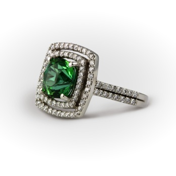 Maine Marine tourmaline & diamond dress ring £9,950.00 - Henry D Johnstone