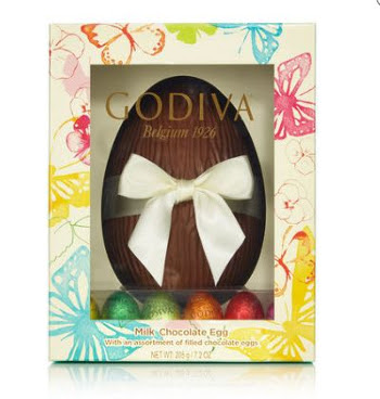 GODIVA PIXIE MILK CHOCOLATE EASTER EGG - 20.00