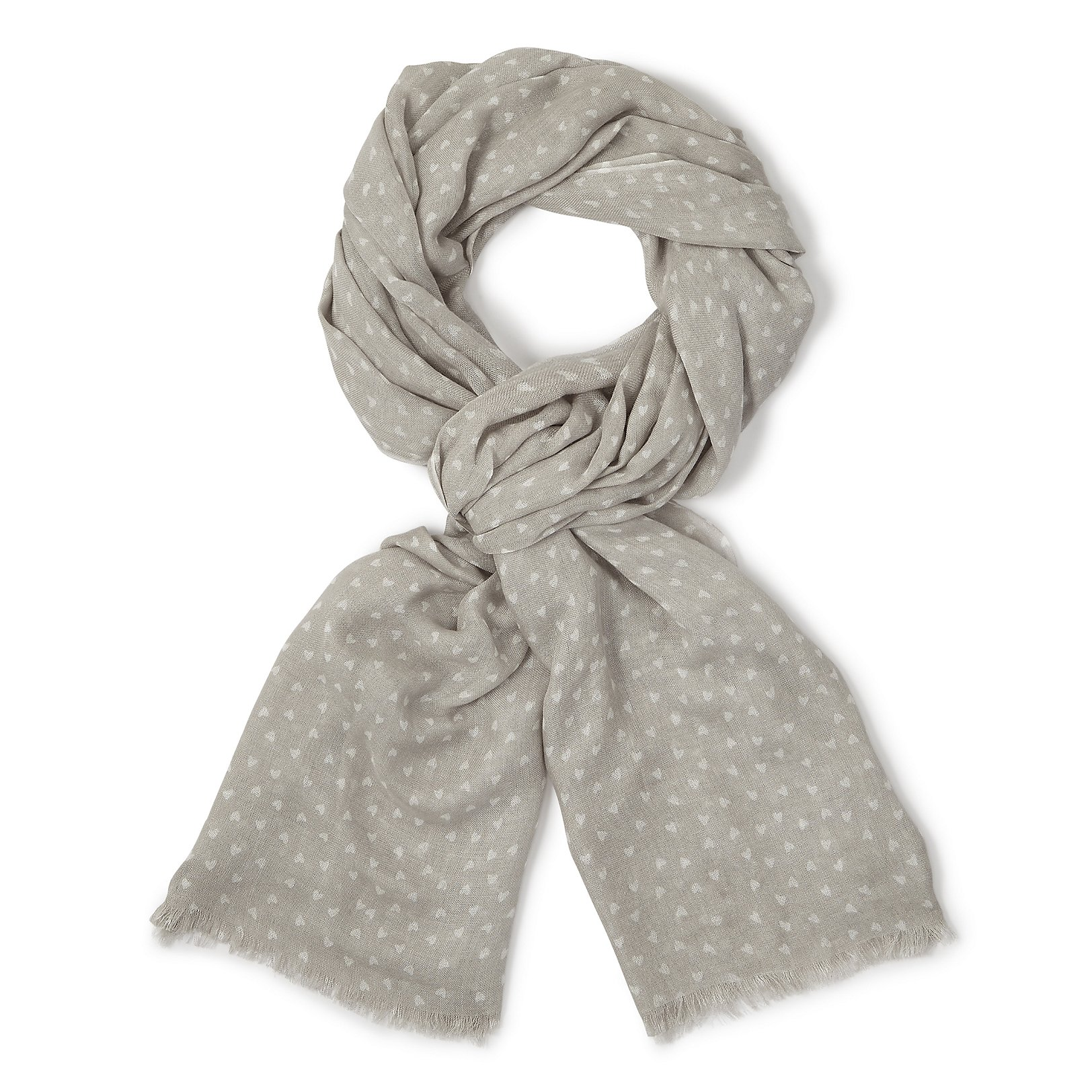 Scattered heart print scarf white company