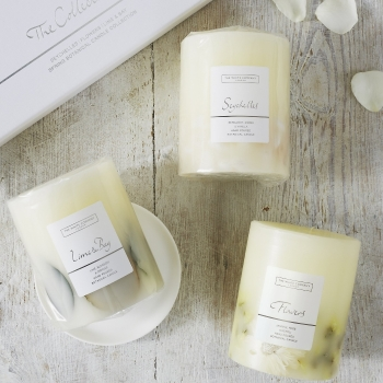 White Company Spring Botanical Candle Collection