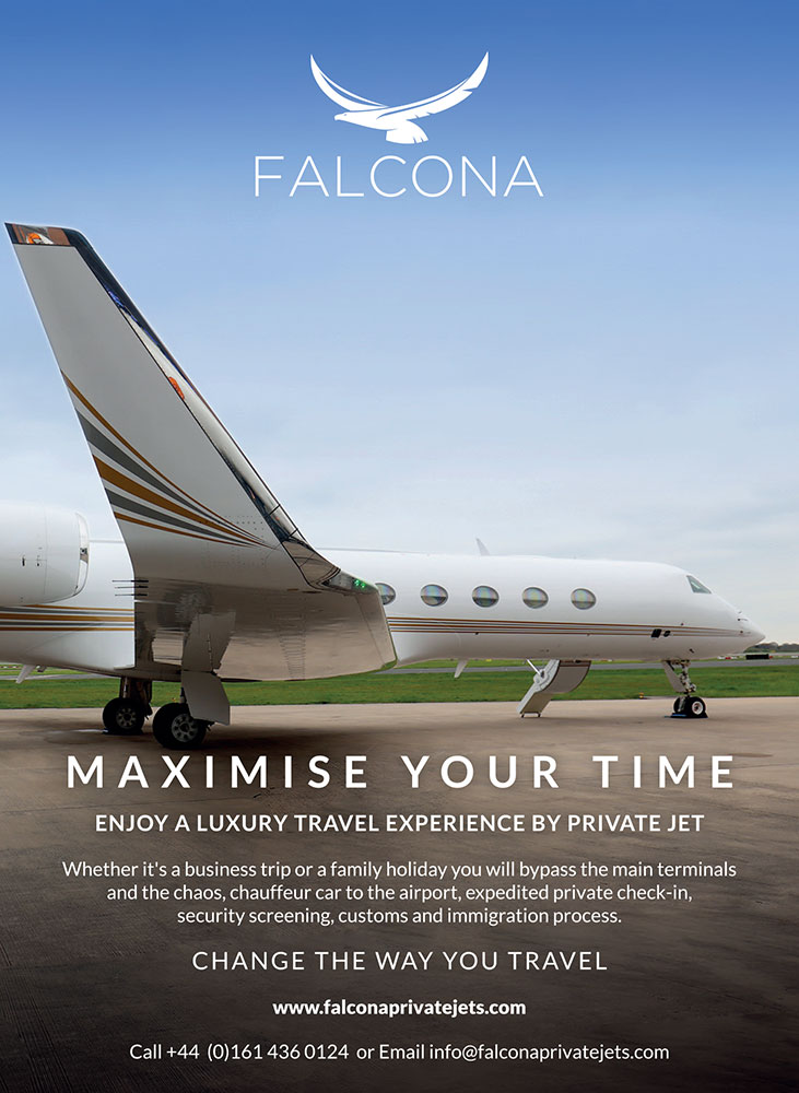 Falcona Private Jets at Manchester Airport